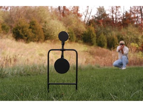 swinging steel targets caldwell plink n swing swinging target twin spin 45 cal