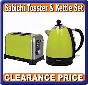 Sabichi Toaster Set Of Kettle And Toaster Breakfast Lime Green Clearance