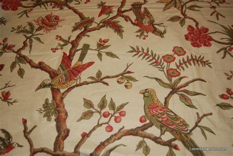 bird drapery fabric rem308 7 yard bolt thibaut dark cream birds on tree