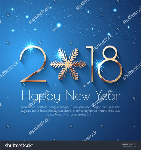 happy new year 2018 text happy new year 2018 text design stock vector 721467175