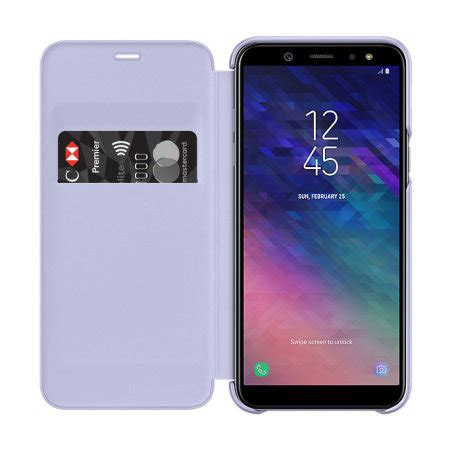 P Samsung A6 by Official Samsung Galaxy A6 2018 Wallet Cover Purple