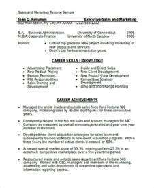 marketing resumes sles marketing resume format template 7 free word pdf