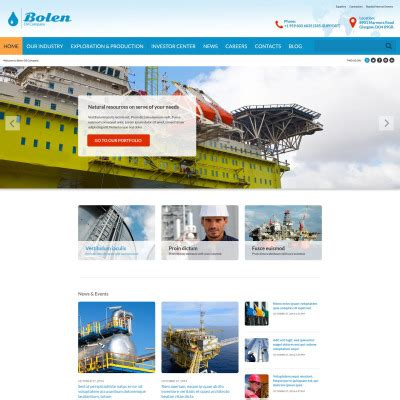 Gas Website Templates Oil Website Templates Gas Station Website Template