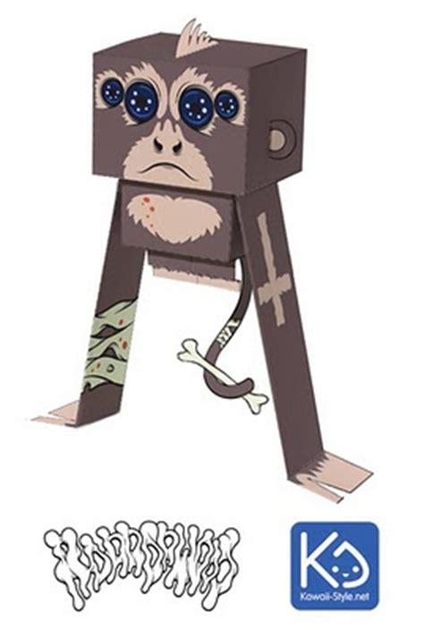 Papercraft Monkey - kikoo spider monkey papercraft papercraft paradise