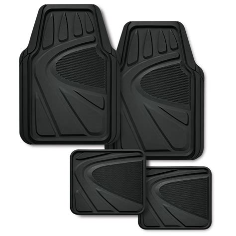 kraco premiuim rubber floor mat set 4 black the