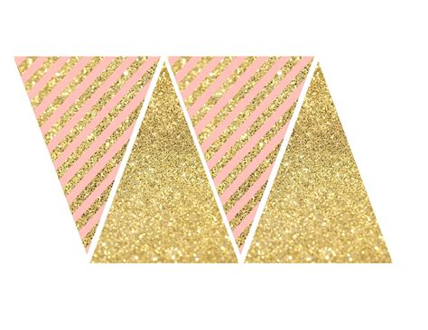 printable banner pink and gold banner free printable paper trail