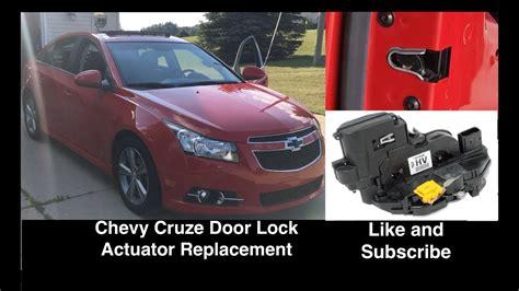 chevrolet cruze door lock actuator replacement fix youtube