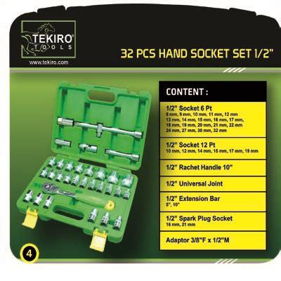 American Tool Kunci Pas Pas 19 X 21 Mm tekiro set socket 1 2 quot 32pcs 6pt via lapakotomotif