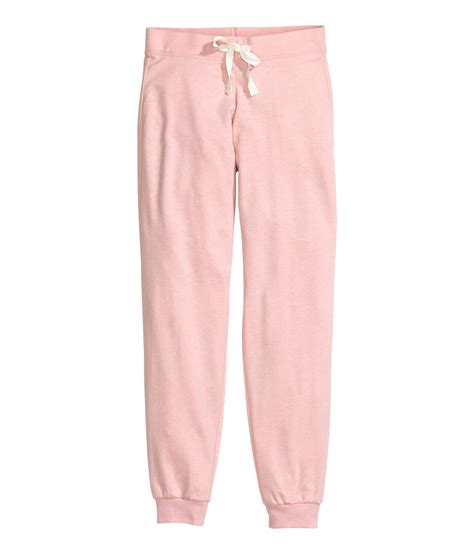 light pink bottoms lyst h m pyjama bottoms in pink