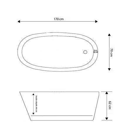 vasca da bagno moderna vasca da bagno freestanding moderna 170 x 70 cm