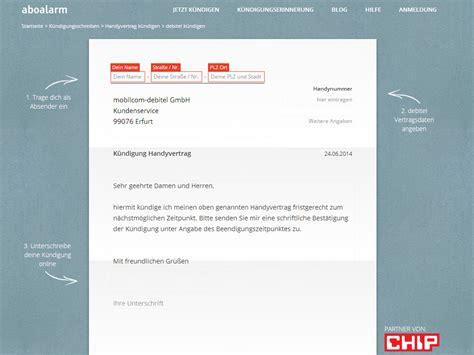 Handyvertrag Kündigen Blau De Vorlage Debitel K 252 Ndigung Vorlage Chip