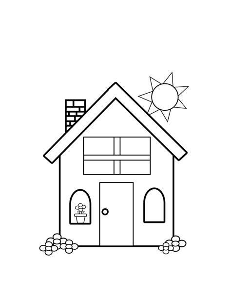 desenho de casa e sol para colorir tudodesenhos