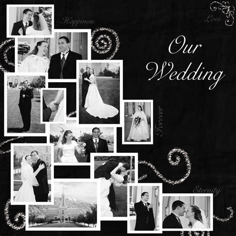 scrapbook layout ideas for engagement wedding scrapbook page layout wedding album pinterest