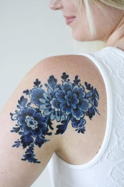 blue henna tattoo large delfts blue temporary tattoos by tattoorary