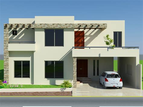 house fronts 3d front elevation com 10 marla house design mian wali