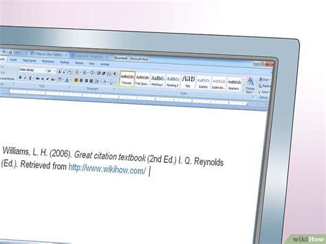apa format zitieren ein fachbuch im apa stil zitieren wikihow