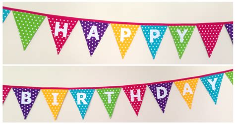 Bunting Flag Happy Birthday Polkadot 1 polka dot happy birthday bunting banner flags