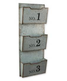 Wall Pocket Organizer by Three Pocket Numbered Galvanized Metal Wall Organizer Zulily