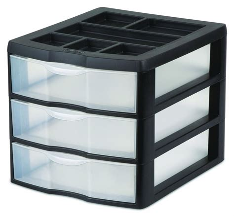 Small 3 Drawer Plastic Storage by 2 Sterilite 20439002 Medium Compact Countertop 3 Drawer