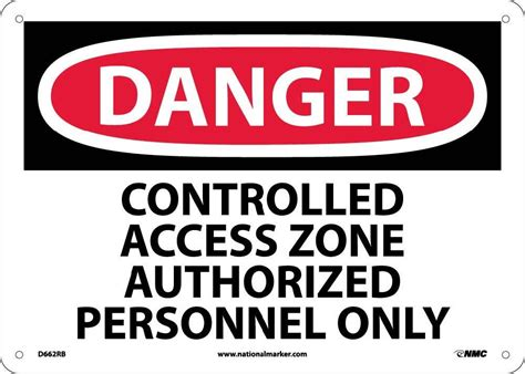 danger controlled access zone restricted access sign esafety supplies