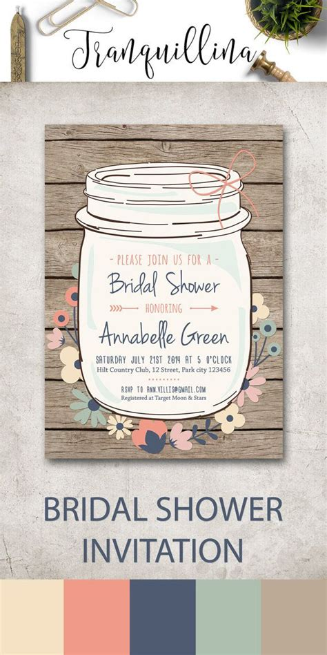 jar bridal shower invitations templates bridal shower invitation template jar bridal shower