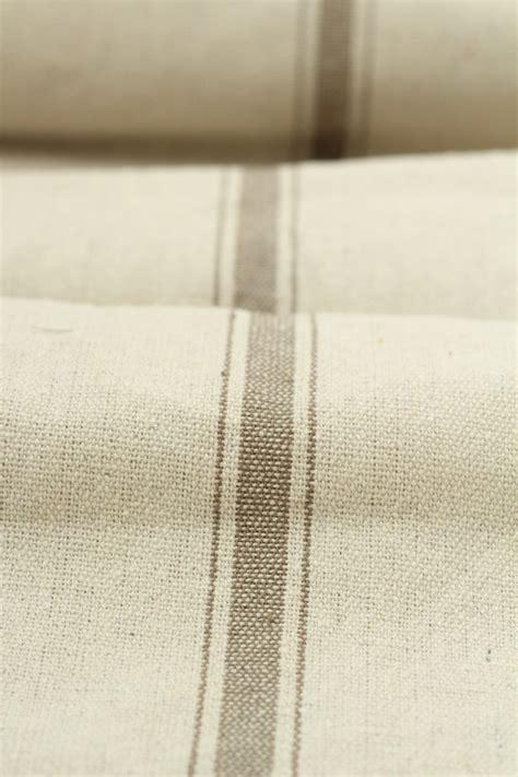 grain sack upholstery fabric grain sack fabric by the yard three stripe tan