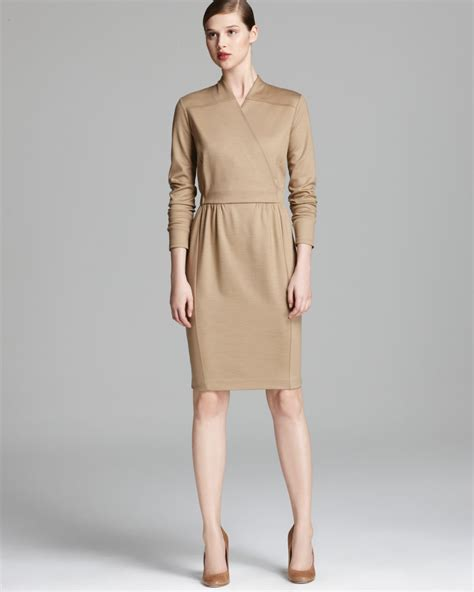 Dress Maxmara By Collection max mara jersey dress palk in brown lyst