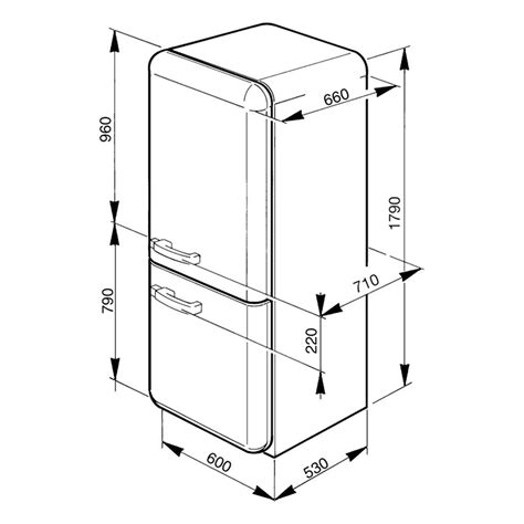 refrigerator dimensions smeg fab32yve dimensions the dimensions of the fridge
