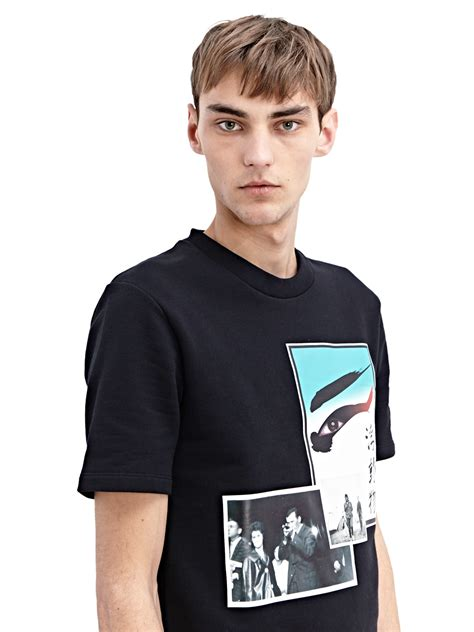 raf simons raf simons green eye t shirt in black for men lyst
