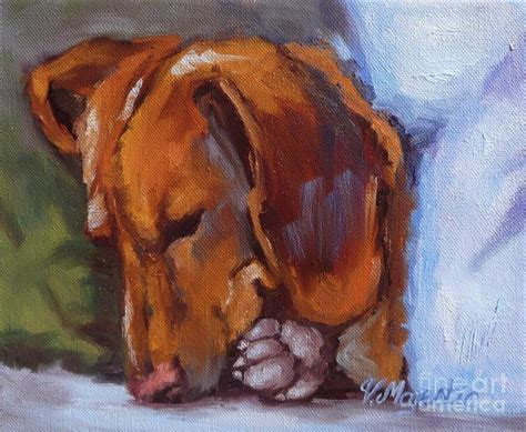 doxon puppy miniature dachshund doxin painting by viktoria k majestic