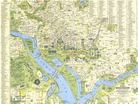 washington dc on a map tourist washington dc map 1964 maps