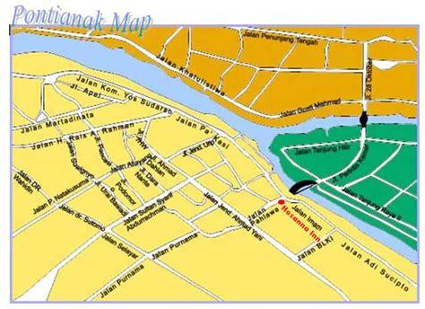 pontianak map pontianak map and pontianak satellite image
