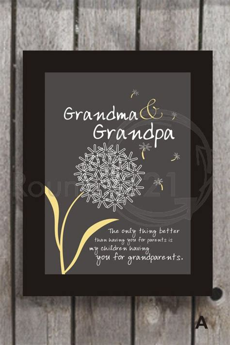 beautiful print for grandparents 4 personalized gift for