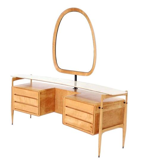 Mid Century Modern Vanity Table by Mid Century Italian Modern Vanity Dressing Table For Sale