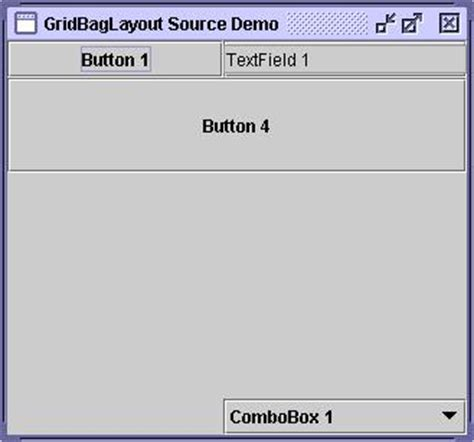 gridbaglayout exles gridbag layout step by step programming