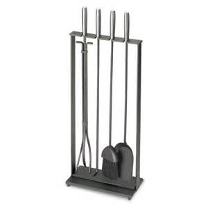 pilgrim 5 modern matte black fireplace tool set