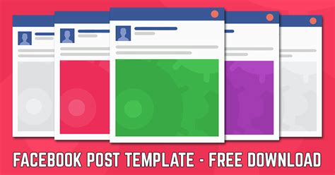 Facebook Post Template 2018 Free Facebook Post Template Download Ad Post Template