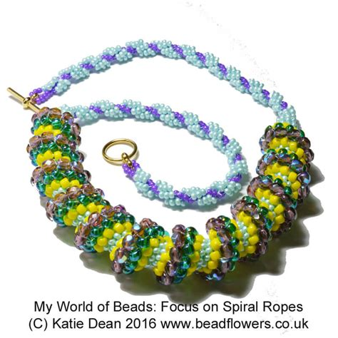 bead world beaded spiral rope my world of booklet dean
