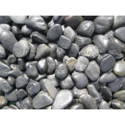 ms international black polished pebbles large  lb bag lpebqblkpol   home depot