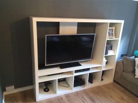ikea expedit tv storage unit white