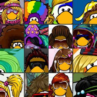 penguin lodge hair club penguin craze hair style bingo