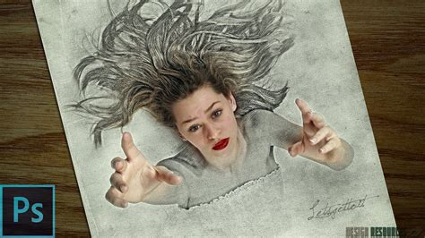 3d sketch drawing 3d sketch drawing effect photoshop tutorial