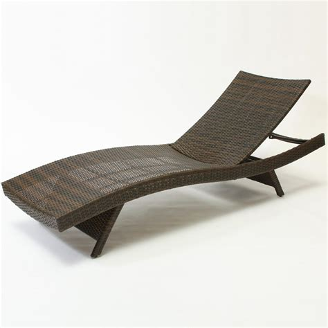 Outdoor Furniture Chaise Lounge Best Selling Home Decor 234420 Outdoor Wicker Lounge Chair Lowe S Canada