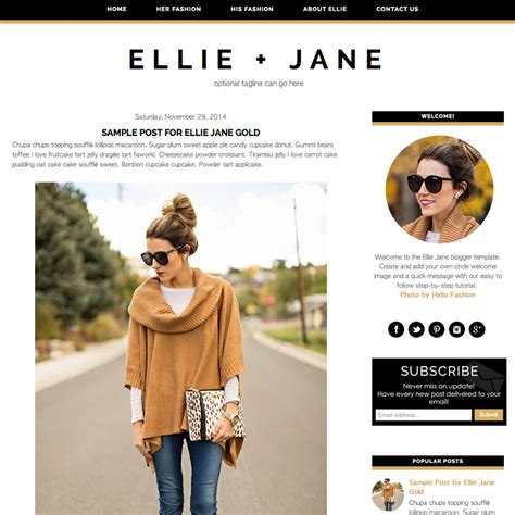 fashionista blogger template latest trend fashion