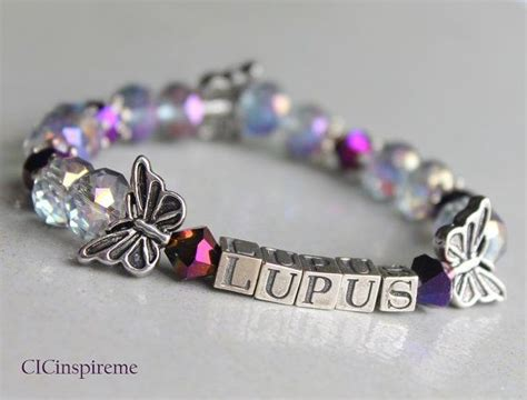 lupus awareness butterfly bracelet made to order