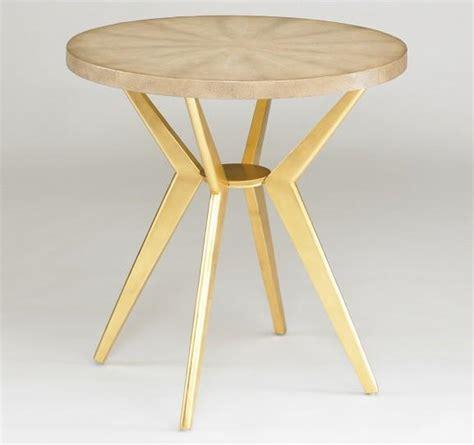 odin modern side table ivory shagreen dwellstudio