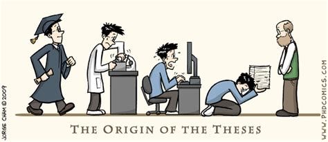 dissertation etymology phd comics tribute to darwin the origin of the theses