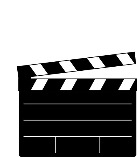 Movie Clapboard Template Clipart Best Clapper Board Template Free