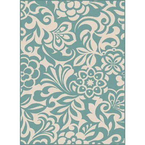 tahari bath rugs tayse rugs tahari aqua 5 ft 3 in x 7 ft 3 in indoor outdoor area rug gct1030 aqu 5x8 the