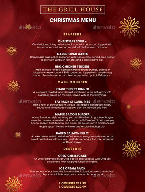 design a xmas menu christmas menu template 30 free psd eps ai